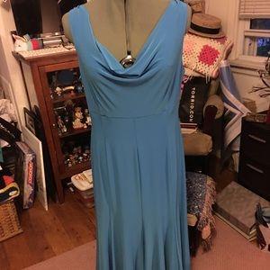 Evan-Picone Turquoise Flowy Dress Sz 10